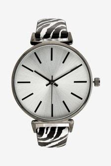 Zebra Print Strap Watch