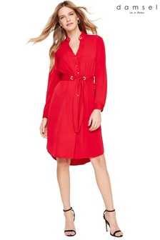 Damsel In A Dress Red Hannah Drawstring Tunic Dress