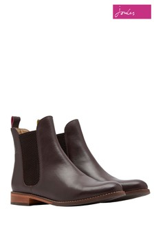 Joules Dark Brown Westbourne Leather Chelsea Boot