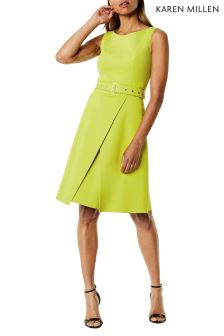 Karen Millen Green Colour Pop Dress