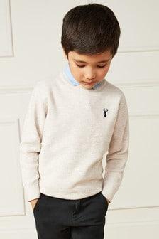 סוודר עם צווארון חולצה (גילאי 3 עד 16)