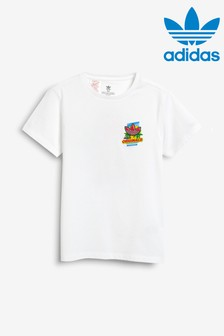 adidas Originals White Graphic T-Shirt