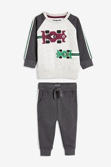 Racing Car Crew And Joggers Set (3mths-7yrs)