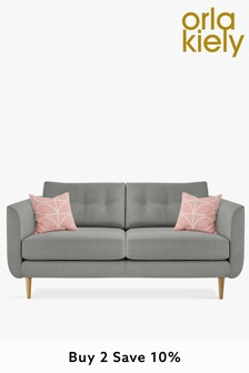 Orla Kiely Light Grey Linden Medium Sofa
