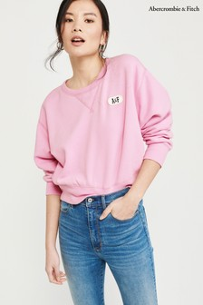 Abercrombie & Fitch Pink Logo Crew