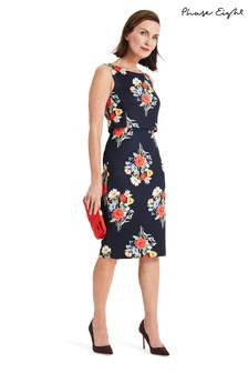 3b72603ff990 Phase Eight Blue Carolina Double Layer Floral Dress
