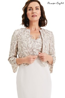 Phase Eight White Ellise Lace Jacket