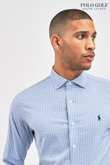 Polo Golf by Ralph Lauren Blue Twill Check Shirt