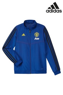 adidas Blue Manchester United FC Pre Match Jacket