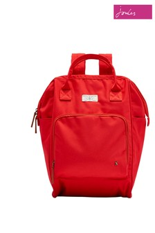Joules Red Coast Frame Top Rucksack