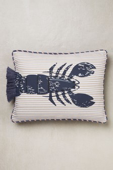 Nautical Lobster Tassel Cushion