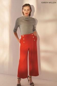 Karen Millen Red Sleek & Sharp Summer Collection Trouser
