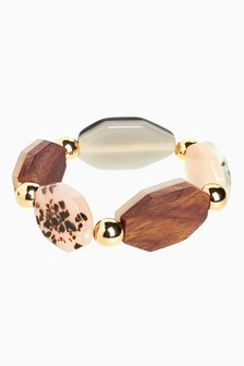 Wood And Resin Statement Bracelet