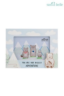 Sass & Belle Bear Camp Photo Frame