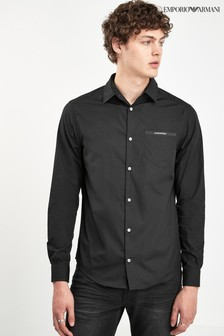 Emporio Armani Black Pocked Shirt