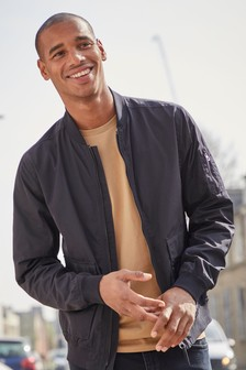Patch Pocket Bomber Jacket