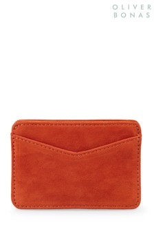 Oliver Bonas Pumpkin Tenley Orange Velvet Card Holder