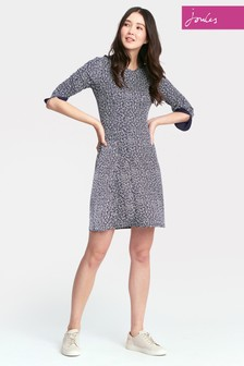 Joules Navy Floral Juliana Flare Dress