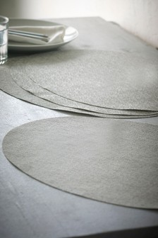 Set of 4 Oval Woven Placemats