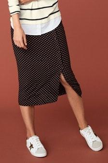 Print Button Skirt