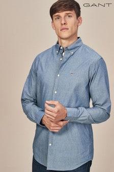 GANT Indigo Tech Prep Solid Shirt