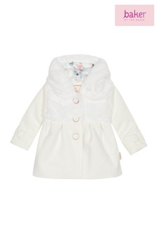 baker by Ted Baker White Wool Coat