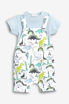 Dinosaur Dungarees And Bodysuit Set (0mths-2yrs)