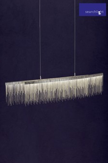 Searchlight Silver Alessandra Waterfall Ceiling Bar