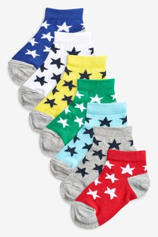 Star Trainer Socks Seven Pack (Younger)