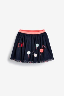 Billieblush Navy Mesh Skirt