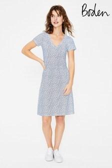 Boden White Penelope Jersey Dress