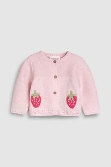 Strawberry Cardigan (0mths-2yrs)