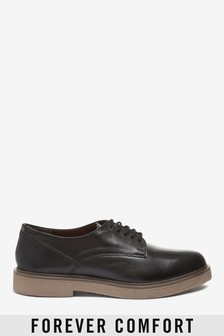 Crepe Sole Leather Lace-Ups