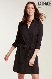 FatFace Black Shelley Shirt Dress