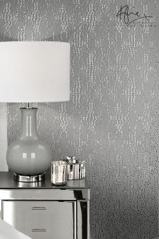 Kylie Cassia Antique Silver Wallpaper