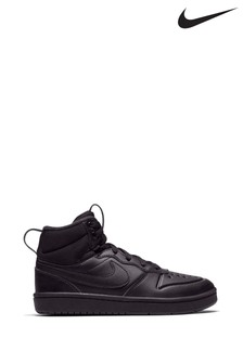 Nike Black Court Borough Mid Junior Trainers