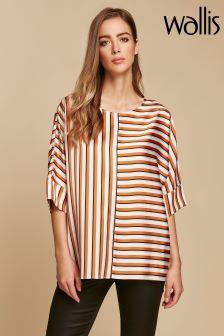Wallis Natural Caramel Stripe Shirt