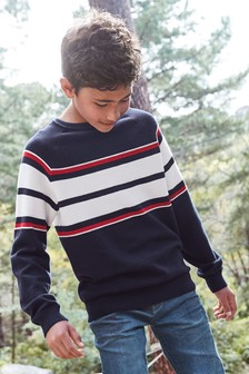 סוודר בסגנון עותומני עם פסים (גילאי 3 עד 16)
