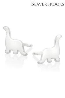 Beaverbrooks Sterling Silver Dinosaur Stud Earrings