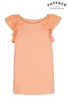 FatFace Sunny Coral Isabel Plain Top
