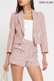 River Island Red Cropped Blazer