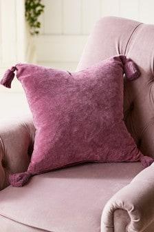 Velvet Tassel Cushion