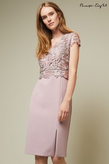 44c644ec97 Phase Eight Purple Caroline Lace Bodice Dress