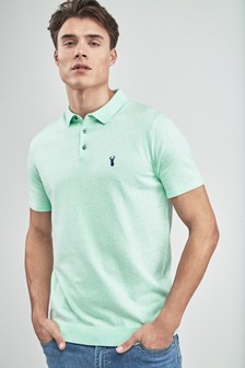 Short Sleeve Knitted Pastel Polo