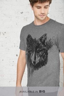 Acid Wash Wolf T-Shirt