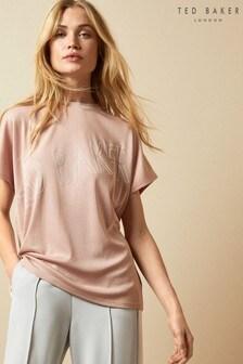Ted Baker Pink Laali Lyocell Logo T-Shirt