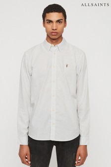 AllSaints Grey Stripe Dagger Shirt