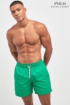 Polo Ralph Lauren Stem Green Plain Swim Short