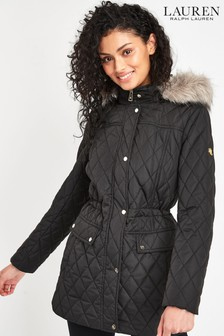 Lauren Ralph Lauren® Black Berber Quilted Coat