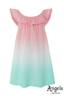 Angels by Accessorize Pink Ombre Watermelon Bardot Dress